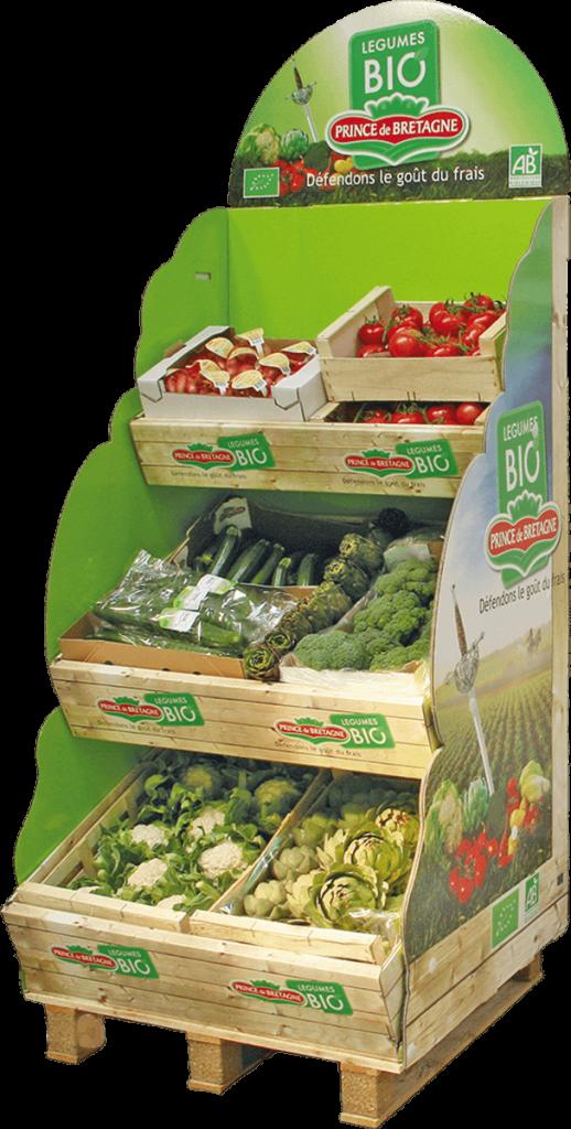 stand de légumes bio Prince de Bretagne
